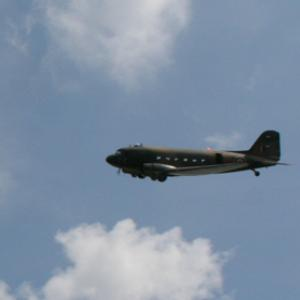 Battle of Britain Memorial Flight Dakota fly-past