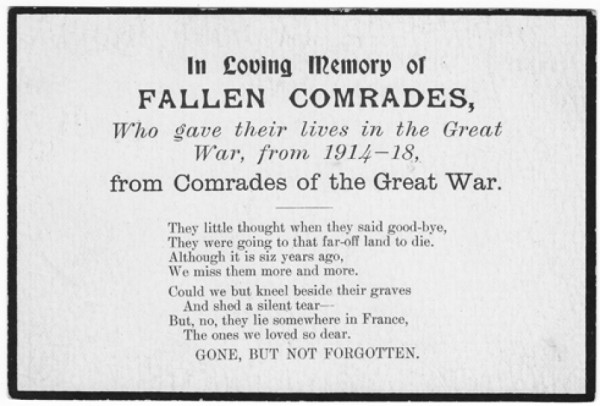 first world war poems:
