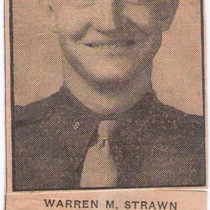 2nd Lieutenant Warren Franklin Mansfield Strawn