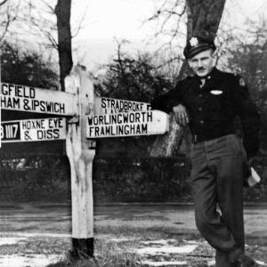 The centre of Horham during WW2